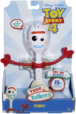 "Disney Pixar Toy Story 4 True Talkers Forky Figure, 7.2"" Tall Posable"