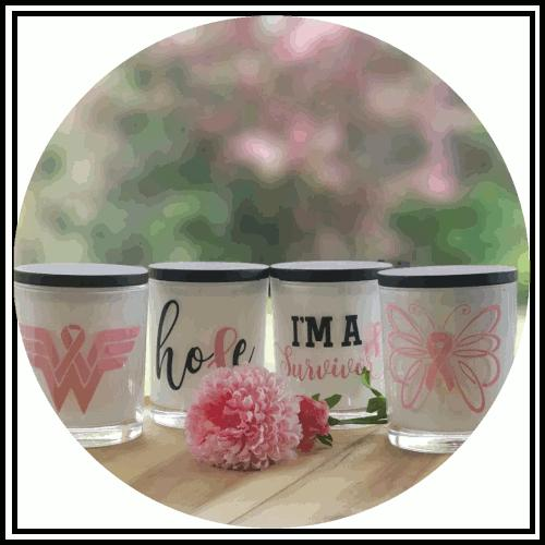 Amber Grove - Soy Wax Candles - Breast Cancer Awareness Candles
