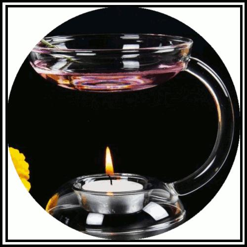 Handmade glass and electric wax melt or fragant oil burner
