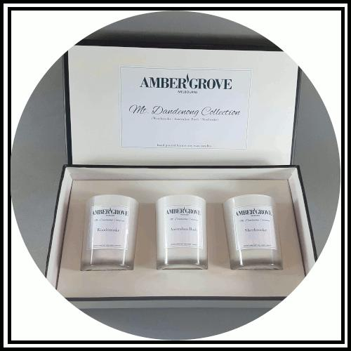 Amber Grove - Scented Soy Wax Candle Gift Sets