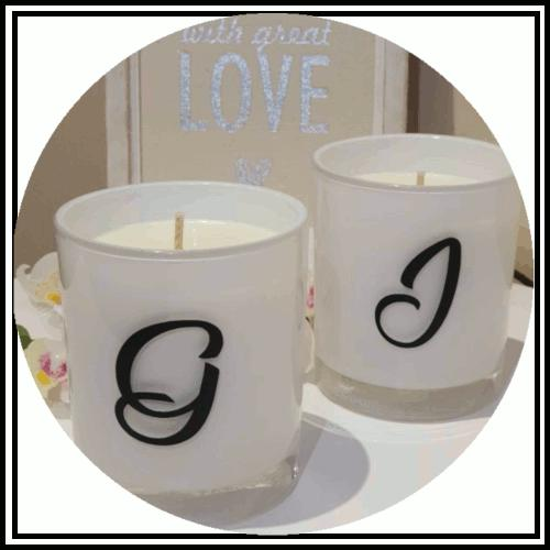 Amber Grove - Soy Wax Candles - Initial /Personalised collection
