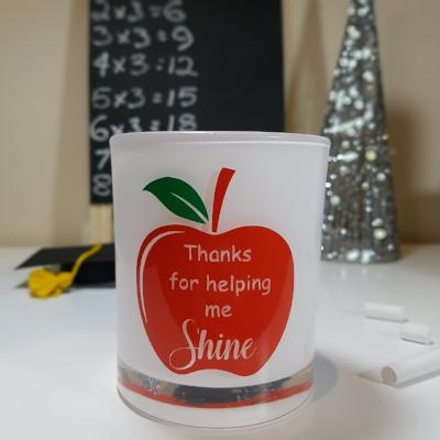 Teacher Gift Candle - Thanks for helping me shine - Soy wax candle - Amber Grove