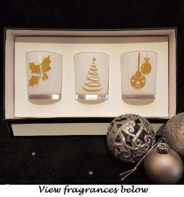 Amber Grove - Soy Wax Candles - Christmas Gift Box (White)