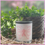 Amber Grove - Soy Wax Candle - Breast Cancer Candle - Butterfly