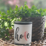 Amber Grove - Soy Wax Candle - Breast Cancer Candle - Hope
