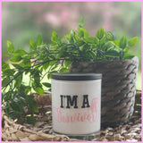 Amber Grove - Soy Wax Candle - Breast Cancer Candle - I'm a Survivor