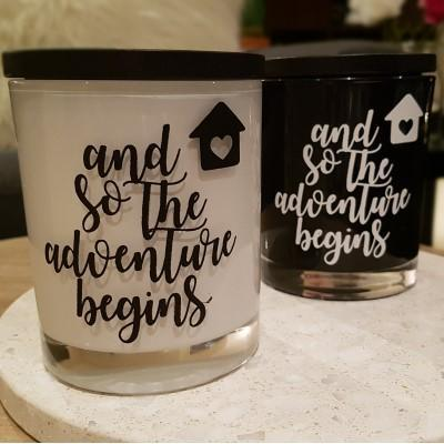 Soy wax Candle - New Home - The Adventure Begins - Amber Grove