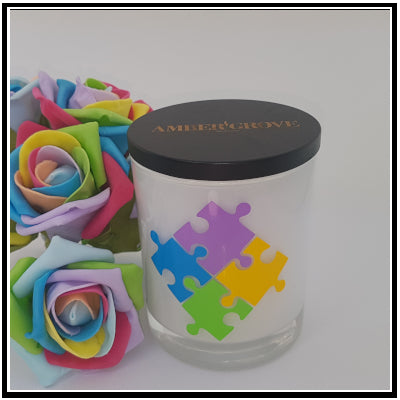 Amber Grove - Soy Wax Candles - Light A Candle for Autism