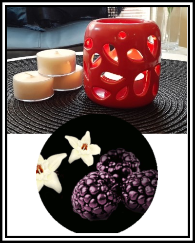 Amber Grove - Scented Soy Wax Tealight Candle - Black Raspberry & Vanilla