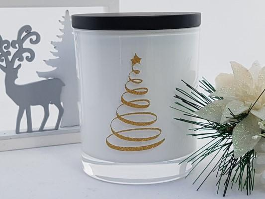 Amber Grove - Christmas Tree - Soy Wax Candle (White)