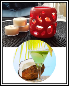 Amber Grove - Scented Soy Wax Tealight Candle - Coconut Lime