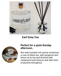 Reed Diffuser - Earl Grey Tea Fragrance - Amber Grove