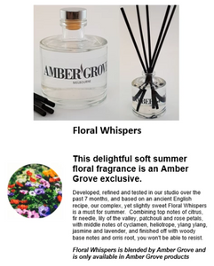 Reed Diffuser - Floral Whispers Fragrance - Amber Grove