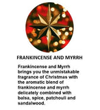 Amber Grove - Christmas Baubles - Soy Wax Candle (White) - Frankincense and Myrrh Fragrance