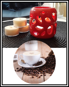 Amber Grove - Scented Soy Wax Tealight Candle - Fresh Coffee