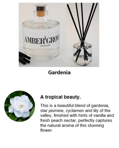 Reed Diffuser - Gardenia Fragrance - Amber Grove