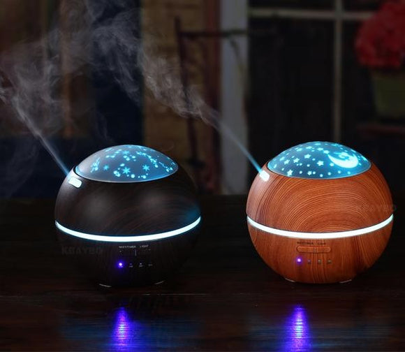 Aroma Essential Oil Ultrasonic Diffuser / Air Humidifier - Night Light - Amber Grove