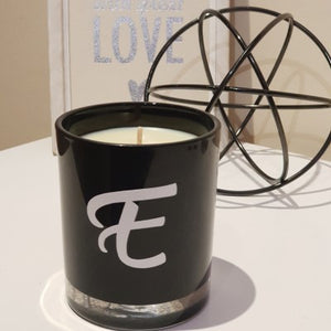 "Soy wax Candle - ""Initial"" - Black - Amber Grove"