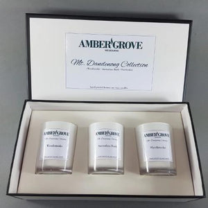 Amber Grove - Soy Wax Candles - Gift Pack - Mt Dandenong Collection - Black