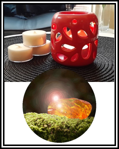 Amber Grove - Scented Soy Wax Tealight Candle - Oakmoss & Amber