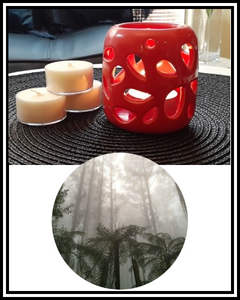 Amber Grove - Scented Soy Wax Tealight Candle - Olinda Mist Fragrance