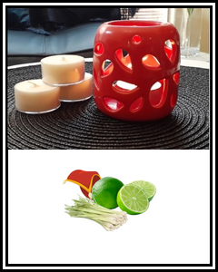 Amber Grove - Scented Soy Wax Tealights Candle - Persian Lime & Lemongrass