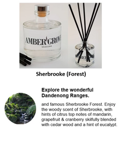Reed Diffuser - Sherbrooke Forrest Fragrance - Amber Grove