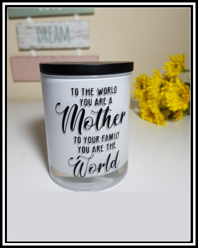 Amber Grove - Scented Soy Wax Candles - To The World.... (Mother)