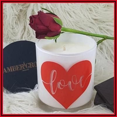 Amber Grove - Soy wax Candle - Romance - Love in Red Heart