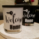 "Soy wax Candle - New Home -""Welcome Home"" - Amber Grove"