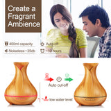 Aroma Ultrasonic Essential Oil Diffuser/Air Humidifier - 5 in 1 Functionality - Amber Grove