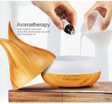 Amber Grove - Aroma Humidifier / Mist Maker Ultrasonic - 5 in 1 - Wood-grain - Aromatherapy