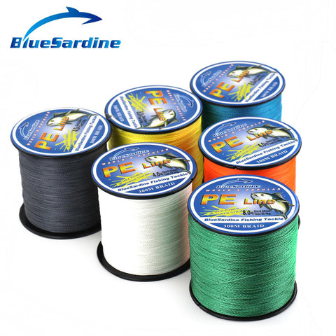 BlueSardine 300M Braided Fishing Line 12LB - 90LB