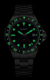 Le Jour Seacolt GMT Automatic Watch - Lume Shot