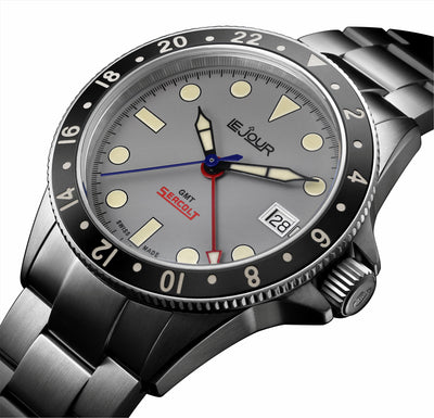 Grey Dial Le Jour Seacolt GMT Automatic Watch
