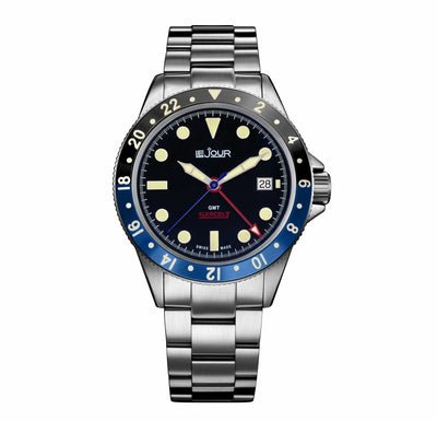 Black Dial Le Jour Seacolt GMT Automatic Watch