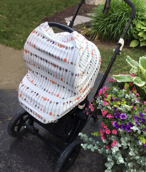 Arrows 4 in 1 : Nursing Cover, Stroller / Car Seat Shade, Grocery Cart Protector, Scarf