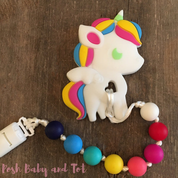 Unicorn Teether - Rainbow Bright