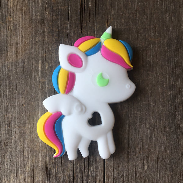 Unicorn Teether - Bright -Food Grade Silicone Chewlery Teether