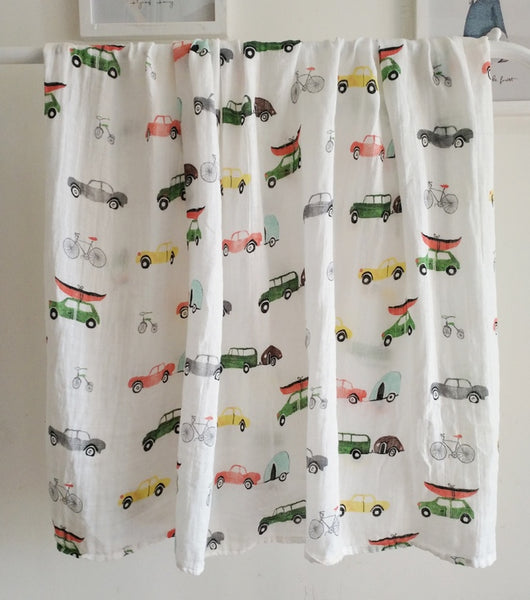 Cars - Soft Bamboo Swaddle Blanket - Large