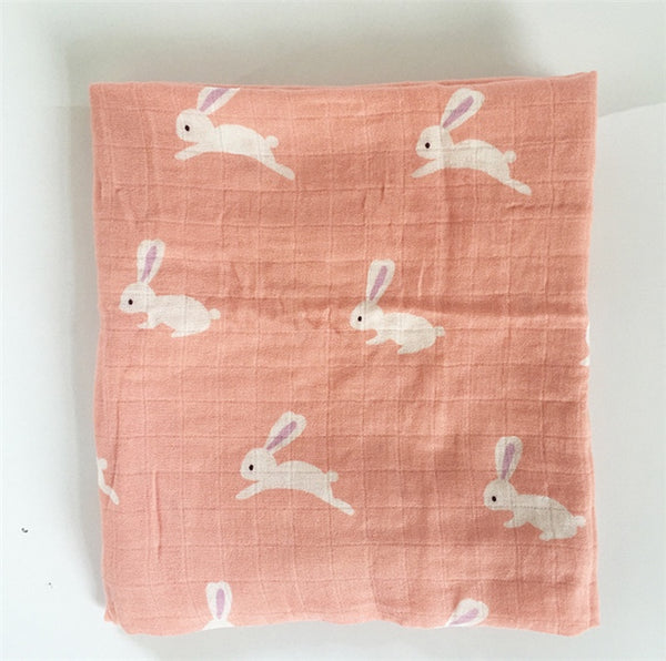 Bunnies - Soft Swaddle Blanket - Large