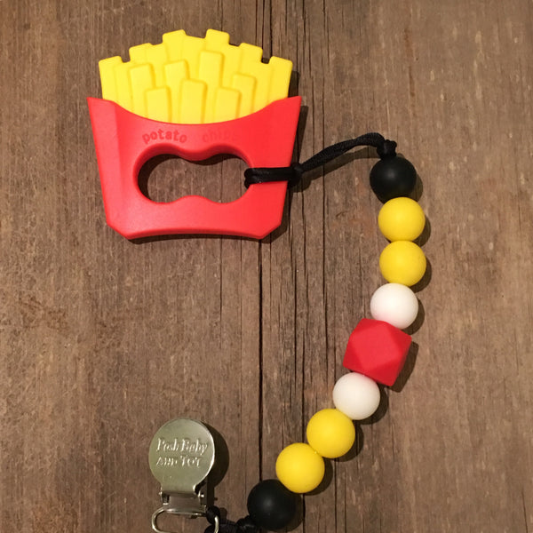 Fries With That! teether & Paci Holder