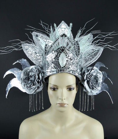 Bali Ice Queen Glowing LED Headpiece for Festivals