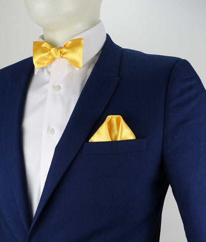 Glow LED Bow Tie and Pocket Square Set