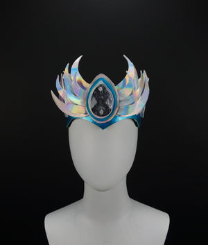 Glowing Holographic LED Crown - MTO Horned Crown