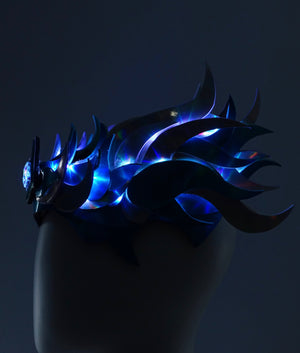 Glowing Holographic LED Crown - MTO Side Flames