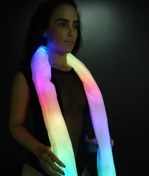 Animated LED Boa with interchangeable covers | Light Up Scarf