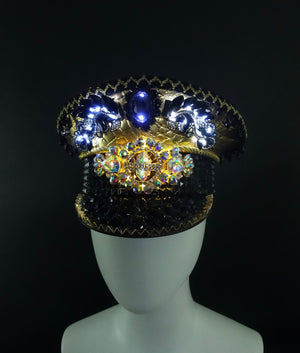 Gold & Black Glowing Captains Hat | MTO