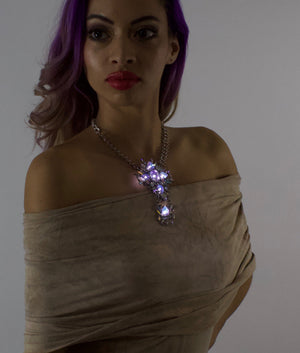 The Priestess | clear light up choker