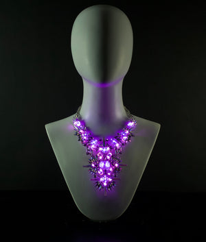 The Countess | pink & purple LED necklace